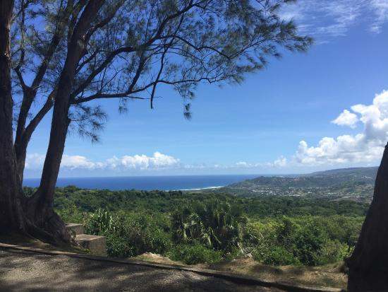 The East coast view from Farley Hill, Barbados