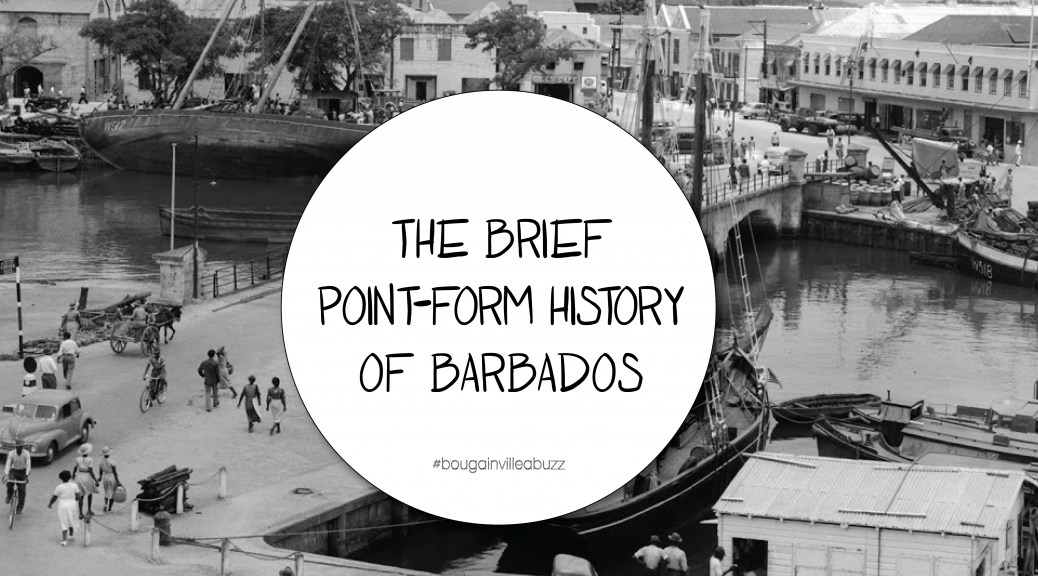 Point form history of Barbados
