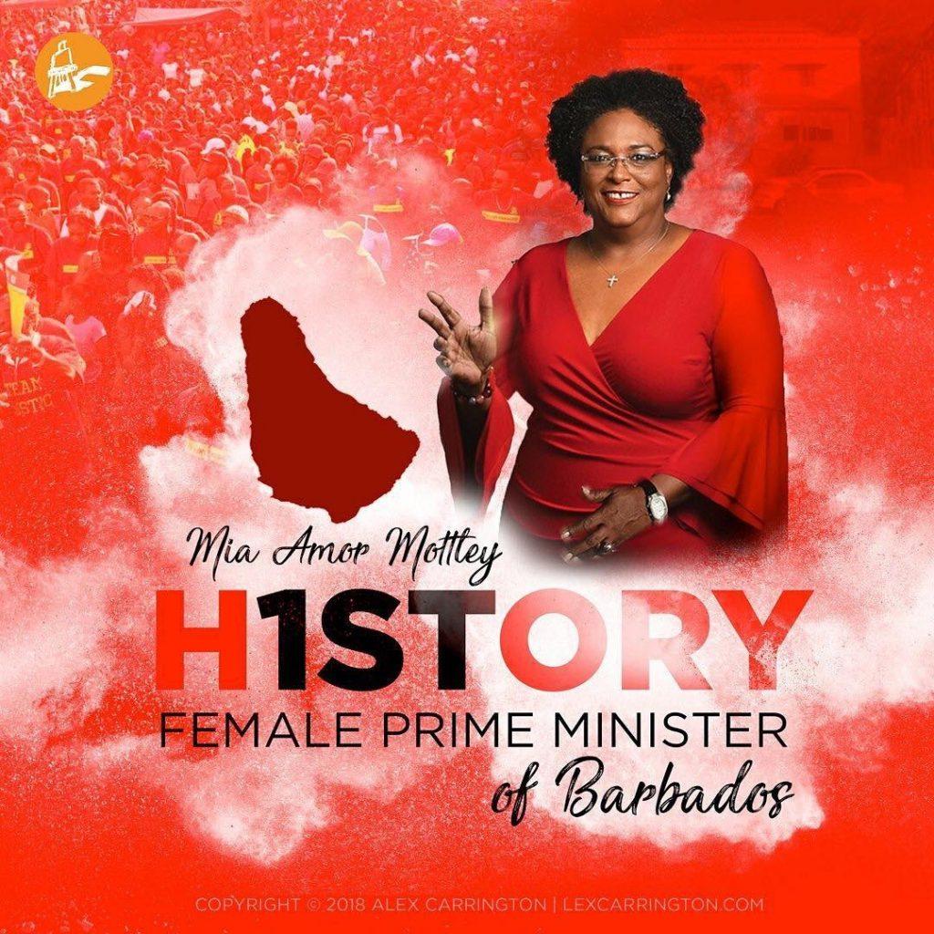 Female Prime Minster Barbados
